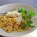 Risotto au poulet, aux champignons et aux noix de cajou, sans gluten