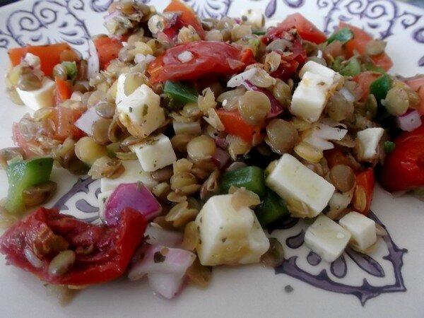 Salade de lentilles au Cheddar