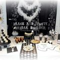 Bridal shower en noir et blanc- black and white bridal shower