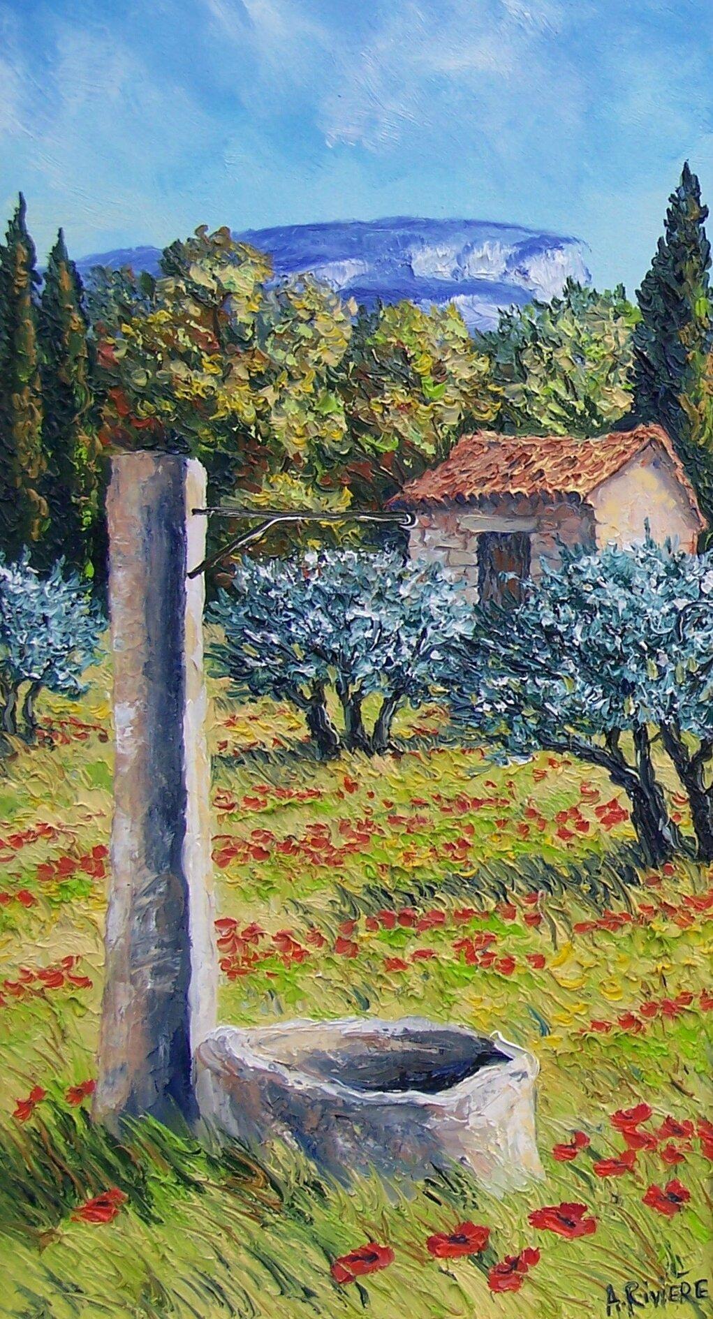 Le puits en Provence Format 30x60 prix 340€