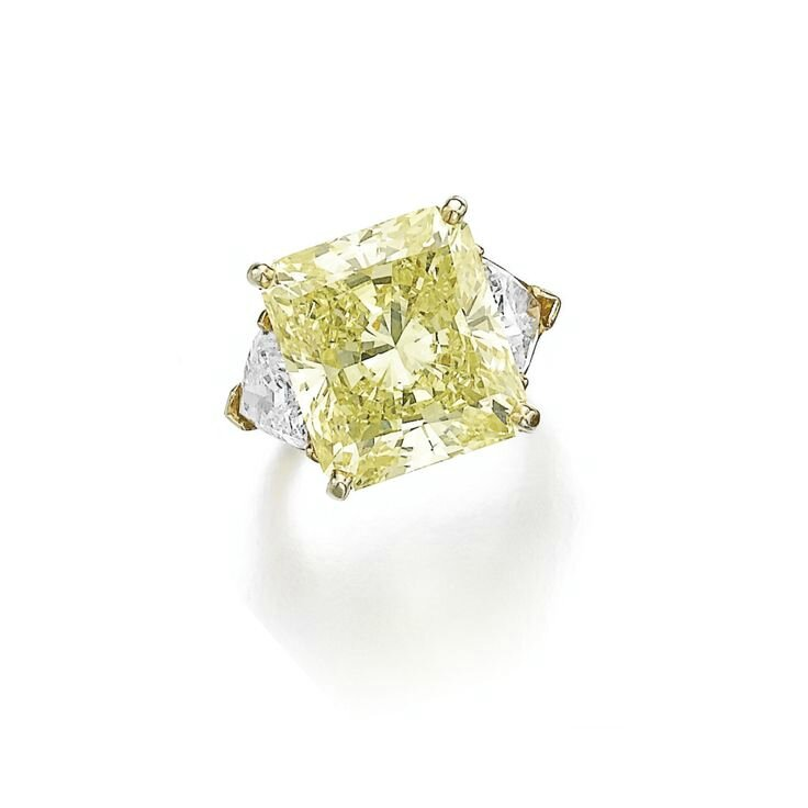 Fancy intense yellow diamond ring, Cartier