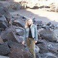 El bollullo-sur la plage de roches volcaniques