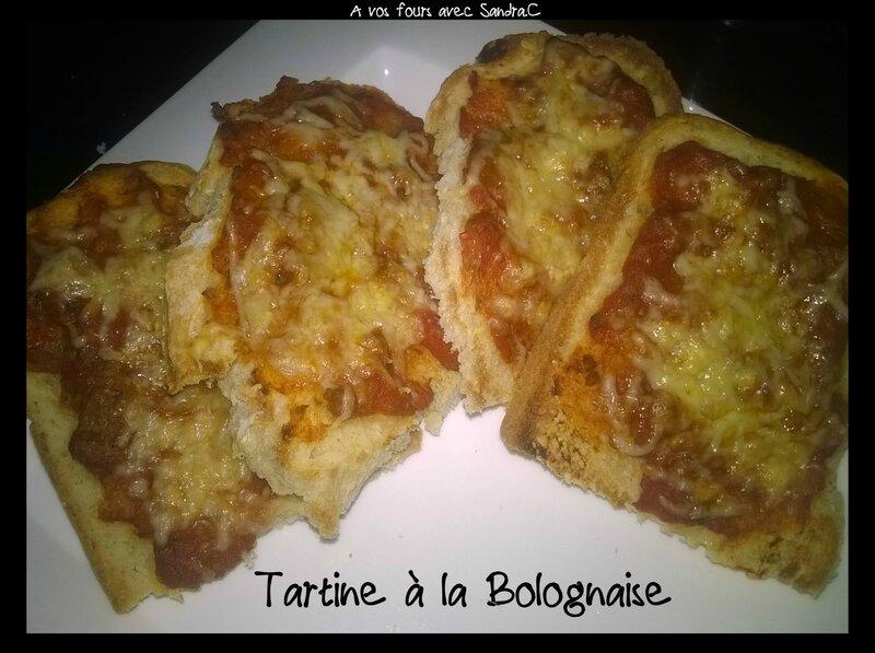 Tartine bolognaise