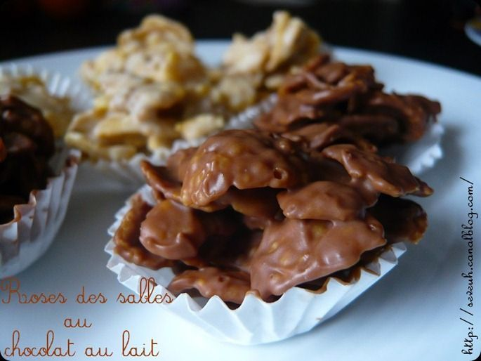 Roses de sables au chocolat au lait