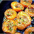 Abricots poêlés à la pistache