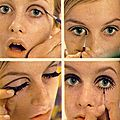 Maquillage twiggy like, soft.