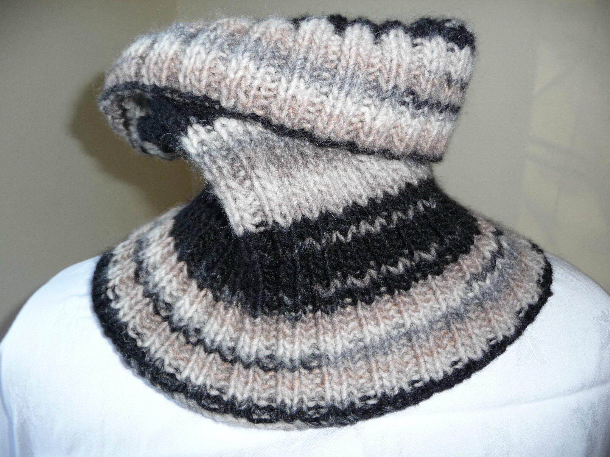 comment tricoter un tour de cou homme
