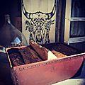Panier à bois vintage