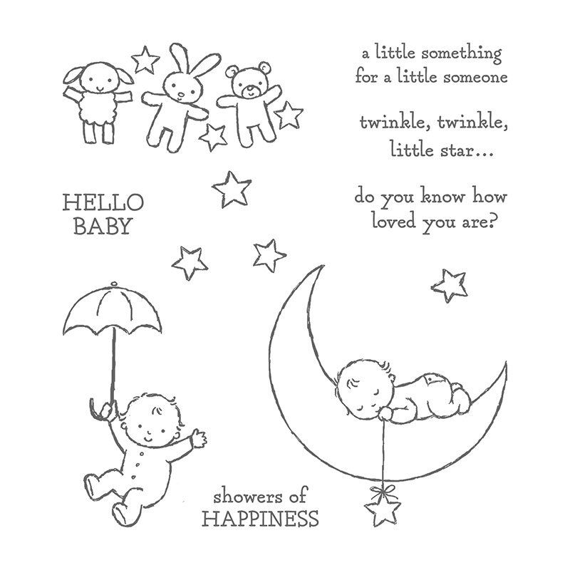 Moon Baby stamp