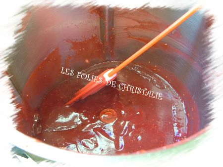 Coulis pêches framboises 2