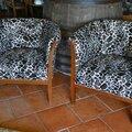 Paire de fauteuils art déco façon léopard