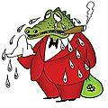 La fable d'écrituriales: les larmes du crocodile