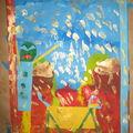 Peinturre et collage a l'orientale