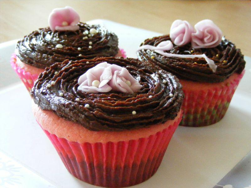 rainbow cupcakes topping chocolat