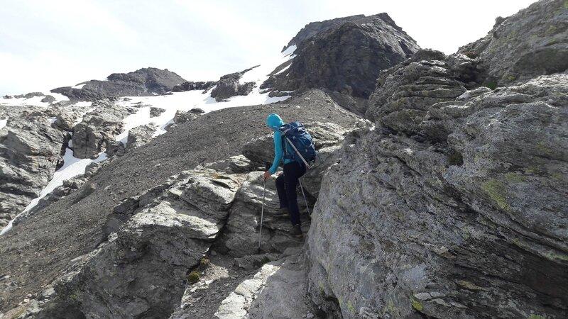crête vers le glacier de la Pointe Ferrand