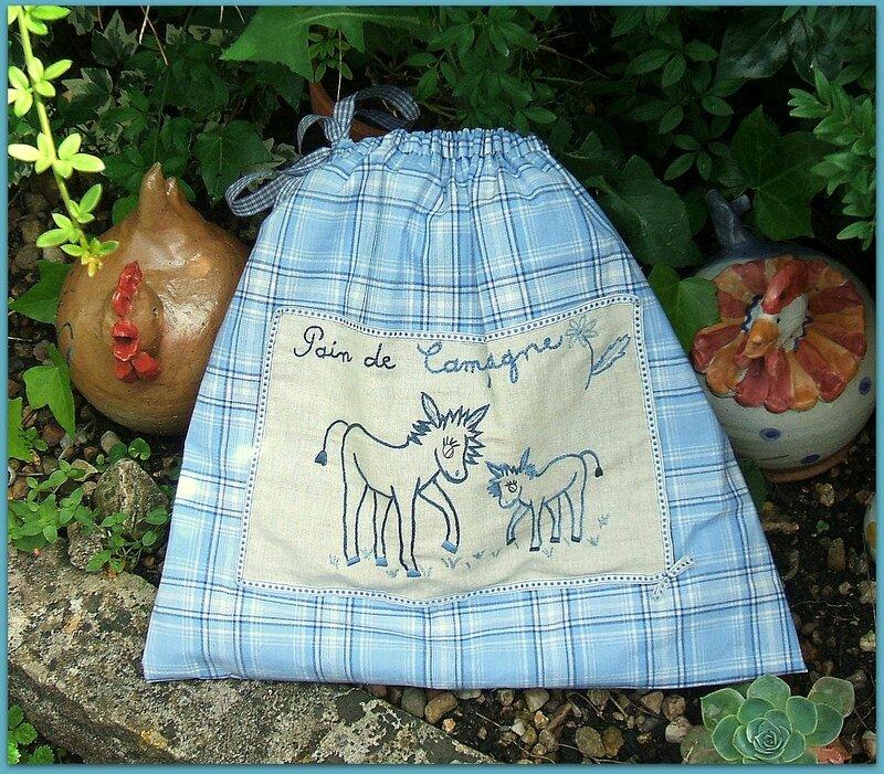 ânes sac à pain bleu