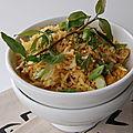 Riz frit au poulet, façon thaï, sans gluten et sans lactose