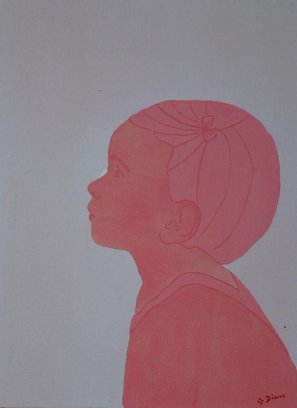 profil de petite fille photo de profils monochromes dianerh creations dessins et peintures. Black Bedroom Furniture Sets. Home Design Ideas