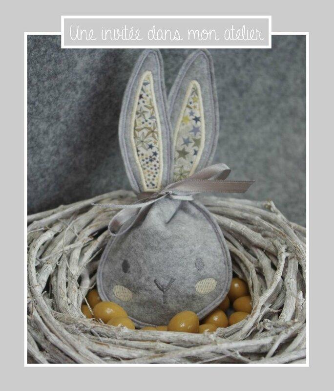 sachet oeufs de pâques-Liberty-adelajda brun