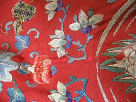 A_Manchu_noblewoman_s_red_silk_ground_embroidered_informal_robe5