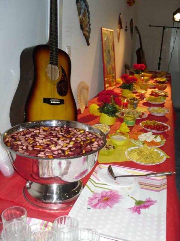 E-Un buffet cocktail thème Espagne