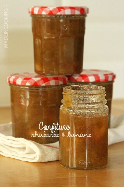 Confiture rhubarbe et banane made in cooking - Quand ramasser la rhubarbe ...