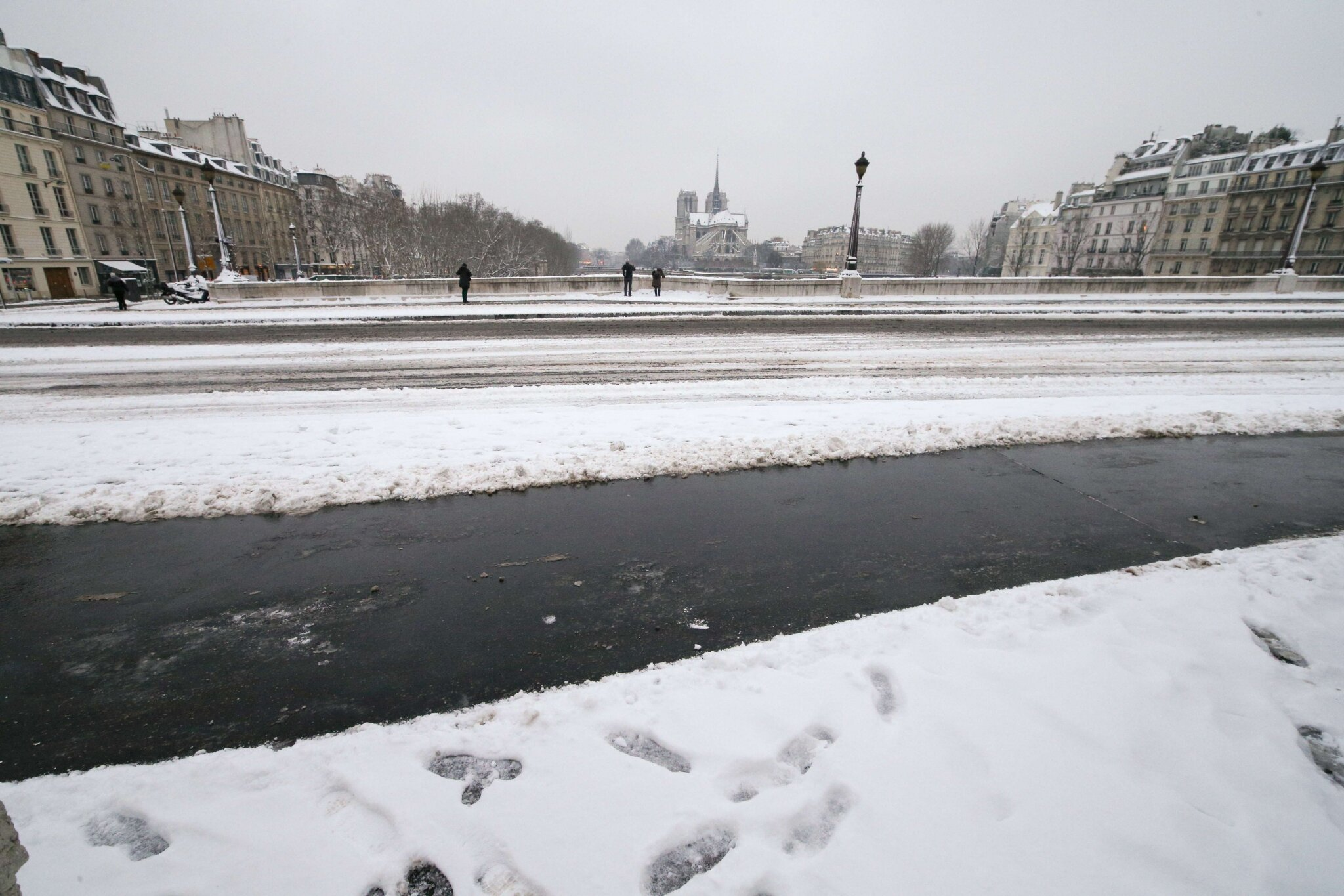 Paris sous la neige. © Photo Michel Stoupak. Sam 19.01.2013, 09:41.