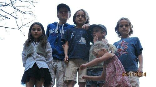 Au parc Zion avec les 5 enfants de la famille Quen