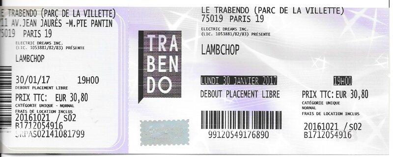 2017 01 30 Lambchop Trabendo Billet
