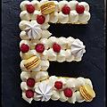 Mon premier letter cake