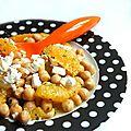 Salade de pois chiches à l'orange et au chèvre frais