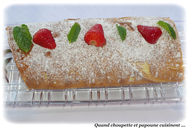roulé aux fraises Cyril Lignac-3137