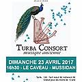 turba consort - concert le caveau - dimanche 23 avril à 16h30