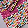 fushia butterflies