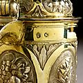 Chope en vermeil et argent, nuremberg, fin du xviième-début du xviiième siècle par jacob plaff