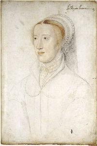La reine dessinée par Jean Clouet vers 1540, musée Condé