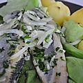 Salade tiède de harengs marinés