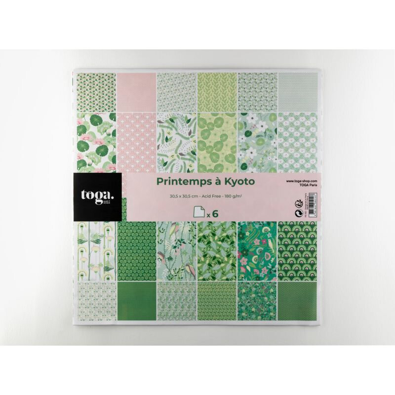 assortiment-de-6-papiers-doubles-30x30-toga-printemps-a-kyoto-