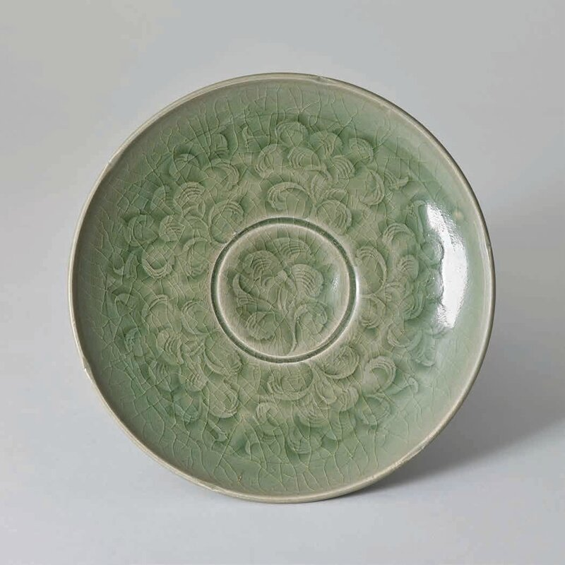 Yaozhou Peony Plate, Northern Song Dynasty, 960 – 1127 A