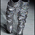 Boots disco - sequins argent - saint laurent