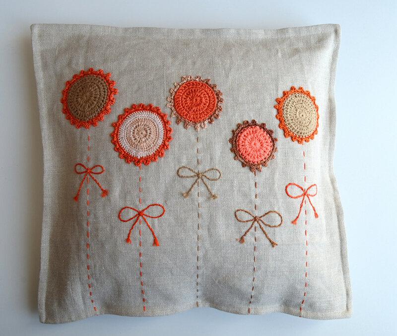 Coussin lin et crochet-la chouette bricole (2)