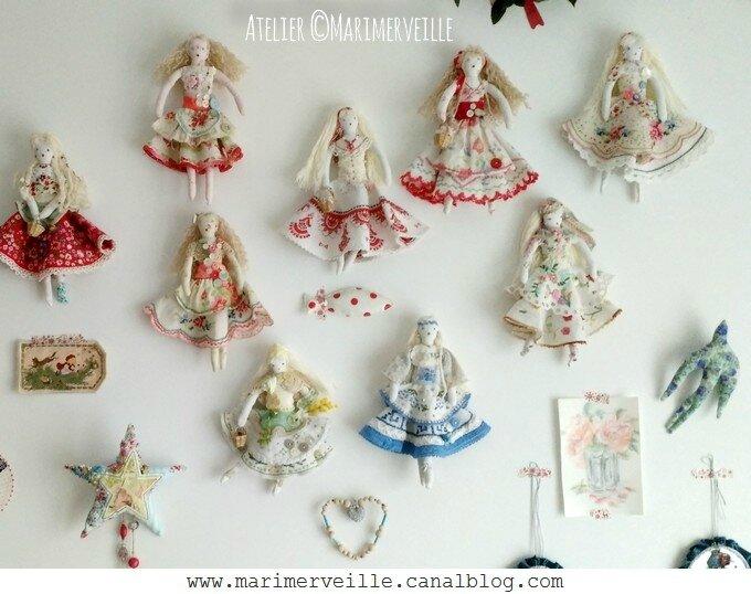 Collection poupée de chiffon -trésors chinés - ©Marimerveille
