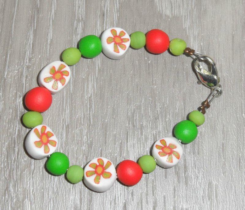 bracelet enfant les fleurs d'été