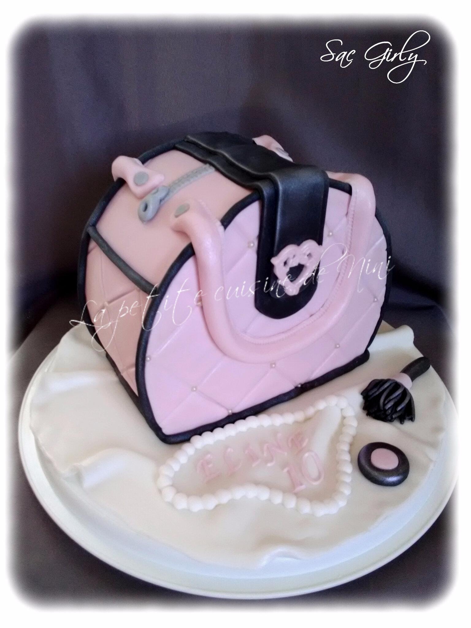 Gâteau d'anniversaire sac à main girly