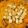 Tofu croustillant à la sauce de soja.
