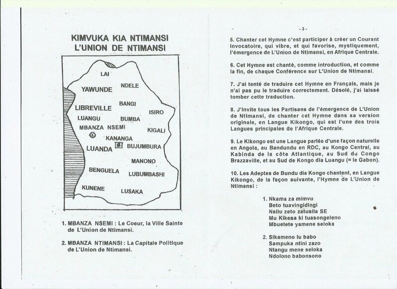 L'HYMNE NATIONAL DE L'UNION DE NTIMANSI b