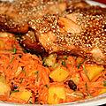 Saumon en croute de sesame facon thaie
