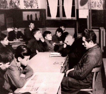 maitre et élèves
