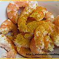 Cocotte de crevettes au curry