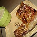 Croustillants de poires au sésame et crème à la fleur d'oranger
